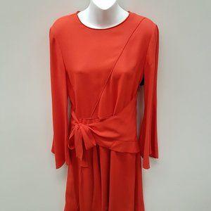Proenza Schouler Orange Dress with Tie Waist